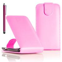 Samsung Wave Y S5380: Accessoire Etui Housse Coque Pochette simili cuir + Stylet - ROSE-PALE