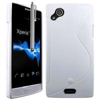 Sony Xperia Arc X12 Lt15i LT15a/ Arc S LT18i LT18a: Accessoire Housse Etui Pochette Coque S silicone gel + Stylet - BLANC