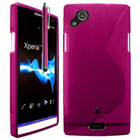 Sony Xperia Arc X12 Lt15i LT15a/ Arc S LT18i LT18a: Accessoire Housse Etui Pochette Coque S silicone gel + Stylet - ROSE
