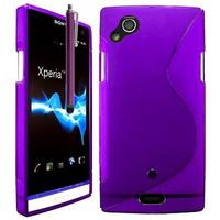 Sony Xperia Arc X12 Lt15i LT15a/ Arc S LT18i LT18a: Accessoire Housse Etui Pochette Coque S silicone gel + Stylet - VIOLET