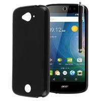 Acer Liquid Z530/ Z530S: Accessoire Housse Etui Pochette Coque silicone gel + Stylet - NOIR