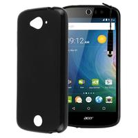Acer Liquid Z530/ Z530S: Accessoire Housse Etui Pochette Coque silicone gel + mini Stylet - NOIR