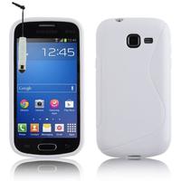 Samsung Galaxy Trend Lite S7390/ Galaxy Fresh Duos S7392: Accessoire Housse Etui Pochette Coque S silicone gel + mini Stylet - BLANC