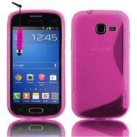 Samsung Galaxy Trend Lite S7390/ Galaxy Fresh Duos S7392: Accessoire Housse Etui Pochette Coque S silicone gel + mini Stylet - ROSE