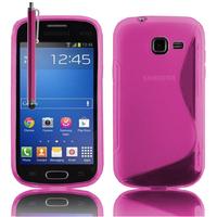 Samsung Galaxy Trend Lite S7390/ Galaxy Fresh Duos S7392: Accessoire Housse Etui Pochette Coque S silicone gel + Stylet - ROSE