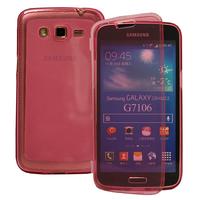 Samsung Galaxy Grand 2 SM-G7100 SM-G7102 SM-G7105 SM-G7106: Accessoire Coque Etui Housse Pochette silicone gel Portefeuille Livre rabat - ROSE