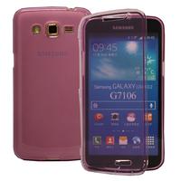 Samsung Galaxy Grand 2 SM-G7100 SM-G7102 SM-G7105 SM-G7106: Accessoire Coque Etui Housse Pochette silicone gel Portefeuille Livre rabat - VIOLET