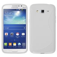 Samsung Galaxy Grand 2 SM-G7100 SM-G7102 SM-G7105 SM-G7106: Accessoire Housse Etui Pochette Coque S silicone gel - BLANC
