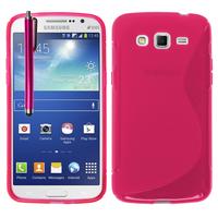 Samsung Galaxy Grand 2 SM-G7100 SM-G7102 SM-G7105 SM-G7106: Accessoire Housse Etui Pochette Coque S silicone gel + Stylet - ROSE