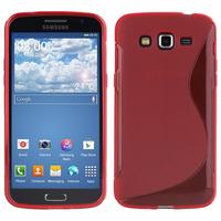 Samsung Galaxy Grand 2 SM-G7100 SM-G7102 SM-G7105 SM-G7106: Accessoire Housse Etui Pochette Coque S silicone gel - ROUGE