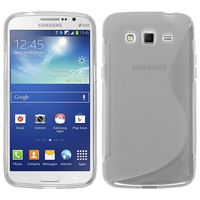 Samsung Galaxy Grand 2 SM-G7100 SM-G7102 SM-G7105 SM-G7106: Accessoire Housse Etui Pochette Coque S silicone gel - TRANSPARENT