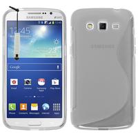 Samsung Galaxy Grand 2 SM-G7100 SM-G7102 SM-G7105 SM-G7106: Accessoire Housse Etui Pochette Coque S silicone gel + mini Stylet - TRANSPARENT