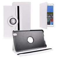 Samsung Galaxy Tab Pro 8.4 SM-T320 T321 T325 3G LTE 4G: Accessoire Etui Housse Coque avec support Et Rotative Rotation 360° en cuir PU - BLANC