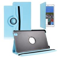 Samsung Galaxy Tab Pro 8.4 SM-T320 T321 T325 3G LTE 4G: Accessoire Etui Housse Coque avec support Et Rotative Rotation 360° en cuir PU - BLEU