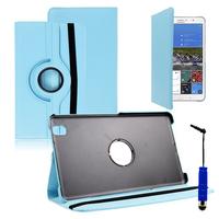 Samsung Galaxy Tab Pro 8.4 SM-T320 T321 T325 3G LTE 4G: Accessoire Etui Housse Coque avec support Et Rotative Rotation 360° en cuir PU + mini Stylet - BLEU