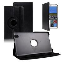 Samsung Galaxy Tab Pro 8.4 SM-T320 T321 T325 3G LTE 4G: Accessoire Etui Housse Coque avec support Et Rotative Rotation 360° en cuir PU - NOIR