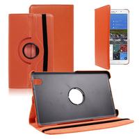 Samsung Galaxy Tab Pro 8.4 SM-T320 T321 T325 3G LTE 4G: Accessoire Etui Housse Coque avec support Et Rotative Rotation 360° en cuir PU - ORANGE