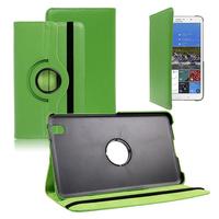 Samsung Galaxy Tab Pro 8.4 SM-T320 T321 T325 3G LTE 4G: Accessoire Etui Housse Coque avec support Et Rotative Rotation 360° en cuir PU - VERT