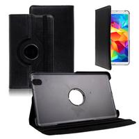 Samsung Galaxy Tab 4 8.0 Wi-Fi SM-T330/ 3G T331/ LTE 4G T335/ Wi-Fi (2015) T333: Accessoire Etui Housse Coque avec support Et Rotative Rotation 360° en cuir PU - NOIR