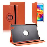 Samsung Galaxy Tab 4 8.0 Wi-Fi SM-T330/ 3G T331/ LTE 4G T335/ Wi-Fi (2015) T333: Accessoire Etui Housse Coque avec support Et Rotative Rotation 360° en cuir PU - ORANGE