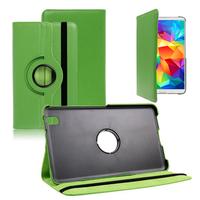Samsung Galaxy Tab 4 8.0 Wi-Fi SM-T330/ 3G T331/ LTE 4G T335/ Wi-Fi (2015) T333: Accessoire Etui Housse Coque avec support Et Rotative Rotation 360° en cuir PU - VERT