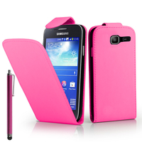 Samsung Galaxy Trend Lite S7390/ Galaxy Fresh Duos S7392: Accessoire Etui Housse Coque Pochette simili cuir + Stylet - ROSE
