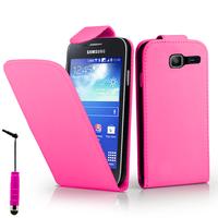 Samsung Galaxy Trend Lite S7390/ Galaxy Fresh Duos S7392: Accessoire Etui Housse Coque Pochette simili cuir + mini Stylet - ROSE