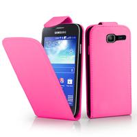 Samsung Galaxy Trend Lite S7390/ Galaxy Fresh Duos S7392: Accessoire Etui Housse Coque Pochette simili cuir - ROSE