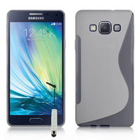 Samsung Galaxy A7/ A7 Duos SM-A700F/ A700FD/ A700K/ A700L/ A700S/ A700X/ A7000/ A7009/ A700H/ A700YD (non compatible Galaxy A7 (2016)): Accessoire Housse Etui Pochette Coque S silicone gel + mini Stylet - TRANSPARENT