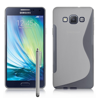 Samsung Galaxy A7/ A7 Duos SM-A700F/ A700FD/ A700K/ A700L/ A700S/ A700X/ A7000/ A7009/ A700H/ A700YD (non compatible Galaxy A7 (2016)): Accessoire Housse Etui Pochette Coque S silicone gel + Stylet - TRANSPARENT
