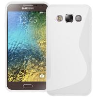 Samsung Galaxy E5 SM-E500F E500H E500HQ E500M E500F/DS E500H/DS E500M/DS: Accessoire Housse Etui Pochette Coque S silicone gel - BLANC