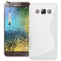 Samsung Galaxy E5 SM-E500F E500H E500HQ E500M E500F/DS E500H/DS E500M/DS: Accessoire Housse Etui Pochette Coque S silicone gel + mini Stylet - BLANC