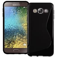 Samsung Galaxy E5 SM-E500F E500H E500HQ E500M E500F/DS E500H/DS E500M/DS: Accessoire Housse Etui Pochette Coque S silicone gel - NOIR