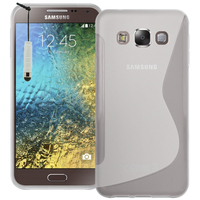 Samsung Galaxy E5 SM-E500F E500H E500HQ E500M E500F/DS E500H/DS E500M/DS: Accessoire Housse Etui Pochette Coque S silicone gel + mini Stylet - TRANSPARENT
