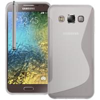 Samsung Galaxy E5 SM-E500F E500H E500HQ E500M E500F/DS E500H/DS E500M/DS: Accessoire Housse Etui Pochette Coque S silicone gel + Stylet - TRANSPARENT