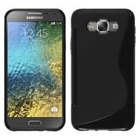 Samsung Galaxy E7 SM-E700 E7000 E7009 E700F E700F/DS E700H E700H/DD E700H/DS E700M E700M/DS: Accessoire Housse Etui Pochette Coque S silicone gel - NOIR