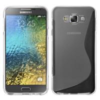Samsung Galaxy E7 SM-E700 E7000 E7009 E700F E700F/DS E700H E700H/DD E700H/DS E700M E700M/DS: Accessoire Housse Etui Pochette Coque S silicone gel - TRANSPARENT