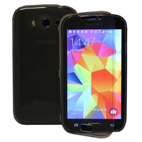 Samsung Galaxy Grand Plus/ Grand Neo/ Grand Lite I9060 I9062 I9060I i9080: Accessoire Coque Etui Housse Pochette silicone gel Portefeuille Livre rabat - GRIS