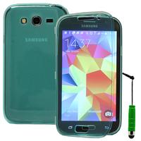 Samsung Galaxy Grand Plus/ Grand Neo/ Grand Lite I9060 I9062 I9060I i9080: Accessoire Coque Etui Housse Pochette silicone gel Portefeuille Livre rabat + mini Stylet - VERT