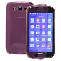 Samsung Galaxy Grand Plus/ Grand Neo/ Grand Lite I9060 I9062 I9060I i9080: Accessoire Coque Etui Housse Pochette silicone gel Portefeuille Livre rabat - VIOLET