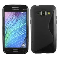 Samsung Galaxy J1/ J1 4G SM-J100F J100FN J100H/DD J100H/DS J100MU: Accessoire Housse Etui Pochette Coque S silicone gel - NOIR
