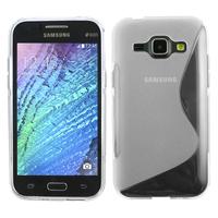 Samsung Galaxy J1/ J1 4G SM-J100F J100FN J100H/DD J100H/DS J100MU: Accessoire Housse Etui Pochette Coque S silicone gel - TRANSPARENT
