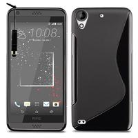 HTC Desire 530/ Desire 630: Accessoire Housse Etui Pochette Coque S silicone gel + mini Stylet - NOIR