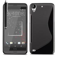 HTC Desire 530/ Desire 630: Accessoire Housse Etui Pochette Coque S silicone gel + Stylet - NOIR