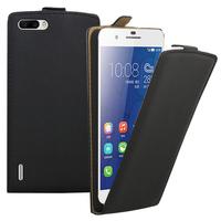 Huawei Honor 6 Plus (non compatible Honor 6X/ Honor 6): Accessoire Housse coque etui cuir fine slim - NOIR