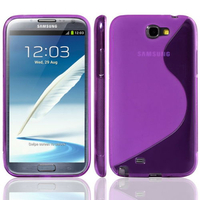 Samsung Galaxy Note 2 N7100/ N7105: Accessoire Housse Etui Pochette Coque S silicone gel - VIOLET