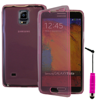 Samsung Galaxy Note 4 SM-N910F/ Note 4 Duos (Dual SIM) N9100/ Note 4 (CDMA)/ N910C N910W8 N910V N910A N910T N910M: Accessoire Coque Etui Housse Pochette silicone gel Portefeuille Livre rabat + mini Stylet - ROSE