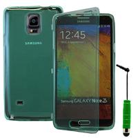 Samsung Galaxy Note 4 SM-N910F/ Note 4 Duos (Dual SIM) N9100/ Note 4 (CDMA)/ N910C N910W8 N910V N910A N910T N910M: Accessoire Coque Etui Housse Pochette silicone gel Portefeuille Livre rabat + mini Stylet - VERT