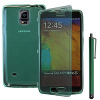 Samsung Galaxy Note 4 SM-N910F/ Note 4 Duos (Dual SIM) N9100/ Note 4 (CDMA)/ N910C N910W8 N910V N910A N910T N910M: Accessoire Coque Etui Housse Pochette silicone gel Portefeuille Livre rabat + Stylet - VERT