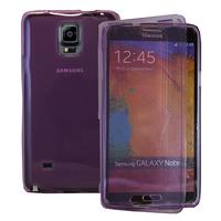 Samsung Galaxy Note 4 SM-N910F/ Note 4 Duos (Dual SIM) N9100/ Note 4 (CDMA)/ N910C N910W8 N910V N910A N910T N910M: Accessoire Coque Etui Housse Pochette silicone gel Portefeuille Livre rabat - VIOLET
